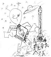 alien sketch bw