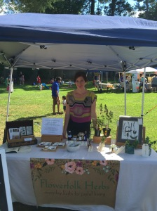 Steph Zabel of Flowerfolk Herb will lead an herb walk at the market.