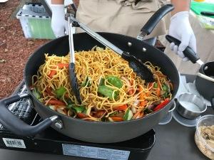 Soba vegetable stir fry